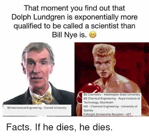that moment you find out that dolph lundgren is exponentially 20488732 ✅ 25 best memes about chemical engineering chemical