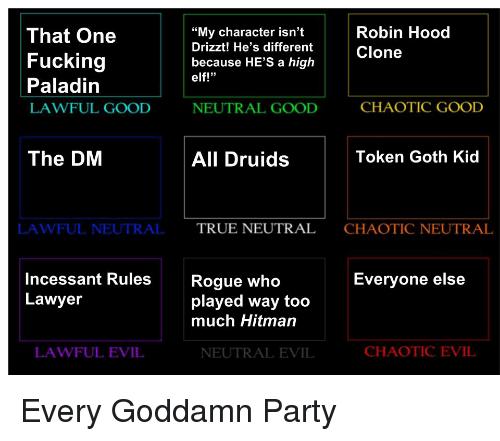 That One Fucking Paladin LAWFUL GOOD My Character Isn't