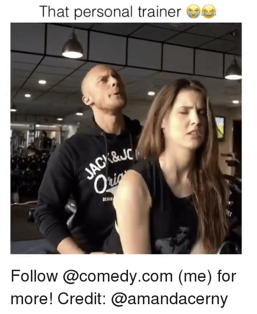 that personal trainer derm follow me for more credit meme on