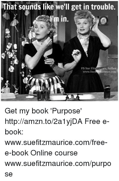 Memes, 🤖, and Online Courses: That sounds like we'll get in trouble.  I'm in  FB/Sue Fit  namice, Author  www.Sue  urice Comm. Get my book 'Purpose' http://amzn.to/2a1yjDA Free e-book: www.suefitzmaurice.com/free-e-book Online course www.suefitzmaurice.com/purpose