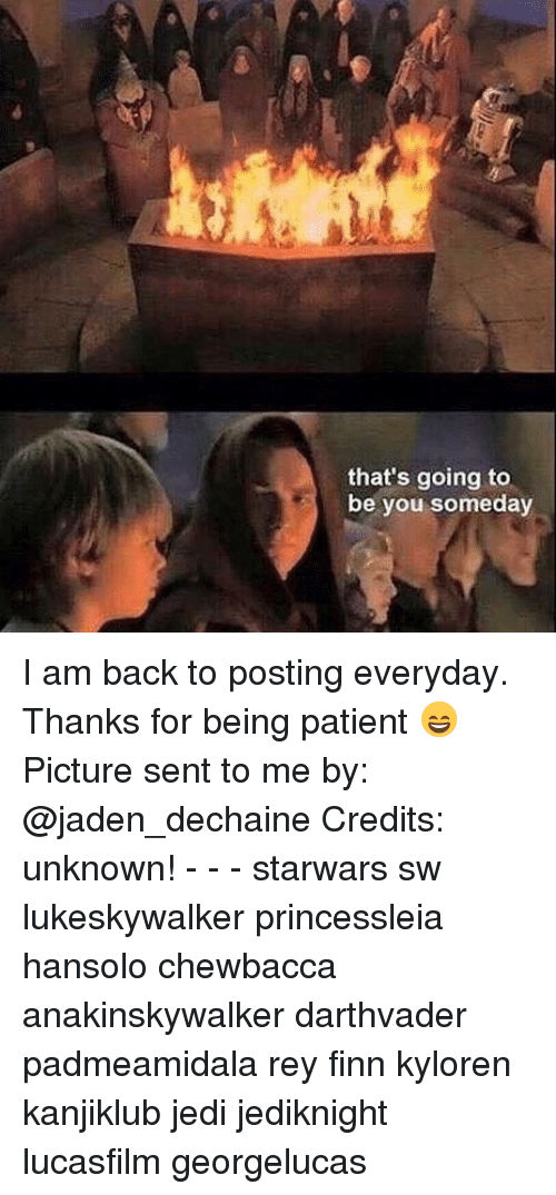 Chewbacca, Finn, and Jedi: that's going to  be you someday I am back to posting everyday. Thanks for being patient 😄 Picture sent to me by: @jaden_dechaine Credits: unknown! - - - starwars sw lukeskywalker princessleia hansolo chewbacca anakinskywalker darthvader padmeamidala rey finn kyloren kanjiklub jedi jediknight lucasfilm georgelucas