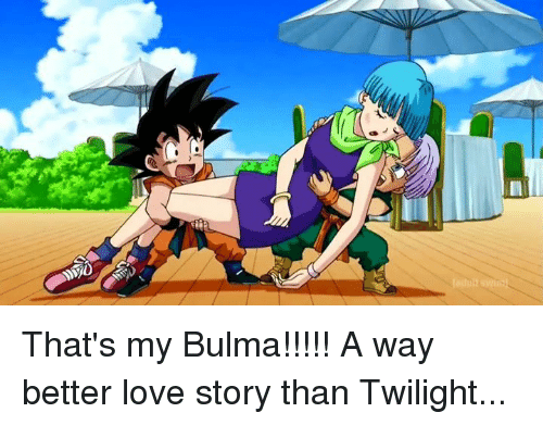 Bulma, Love, and Memes: That's my Bulma!!!!!  A way better love story than Twilight...