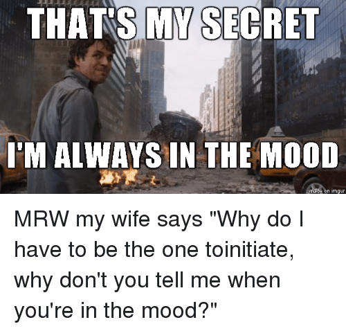Wife never in the mood