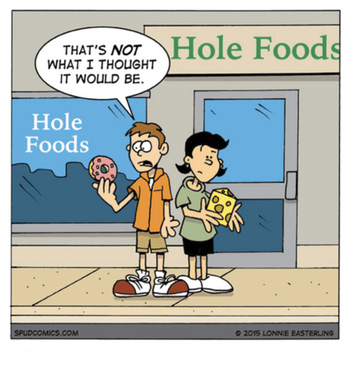 b473906511 THAT'S NOT Hole Foods WHAT I THOUGHT IT WOULD BE Hole Foods ...