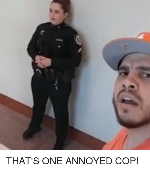 Memes, Annoyed, and 🤖: THAT'S ONE ANNOYED COP!