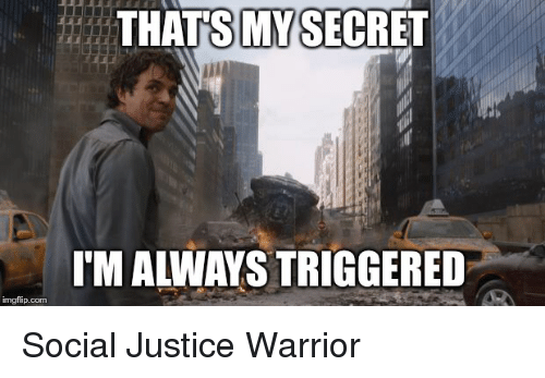 Be Like, Justice, and Socialism: THATSMY SECRET  ITM ALWAYS TRIGGERED  imgflip.com Social Justice Warrior
