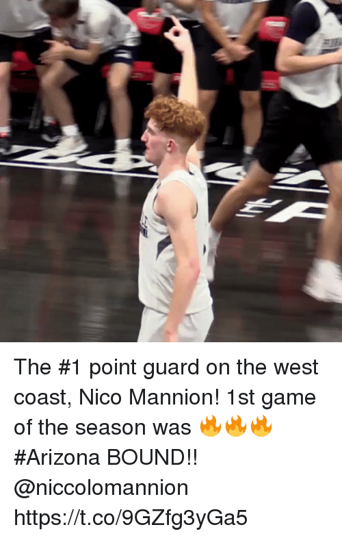 me.me: The #1 point guard on the west coast, Nico Mannion! 1st game of the season was 🔥🔥🔥 #Arizona BOUND!! @niccolomannion https://t.co/9GZfg3yGa5