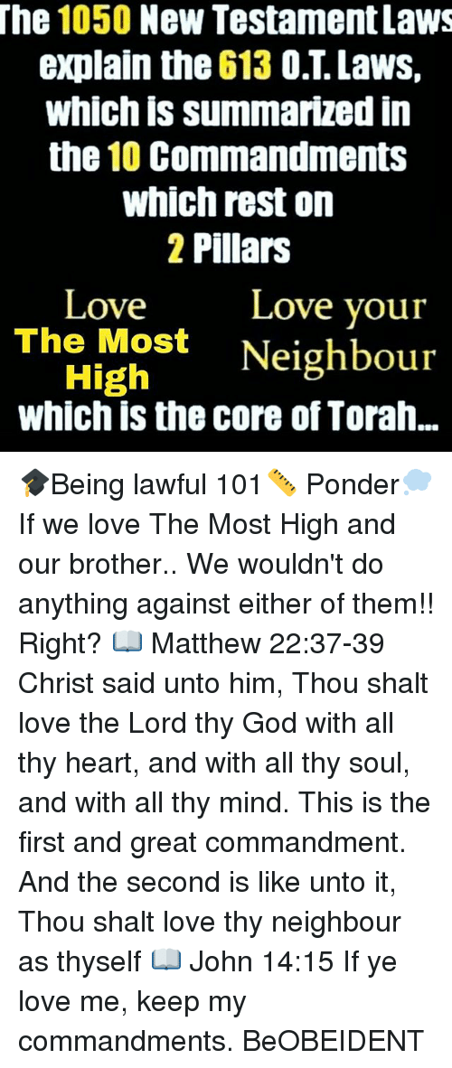The 1050 New Testament Laws Explain the 613 OT Laws Which