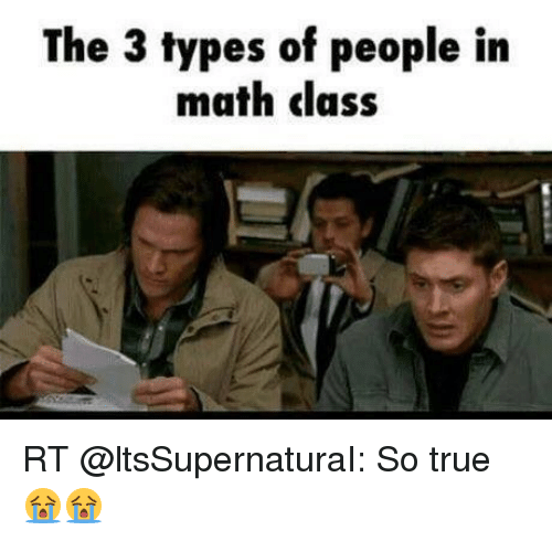 Memes Math And The 3 Types Of People In Cl Rt
