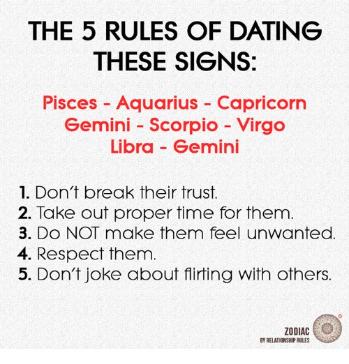 Dating, Respect, and Aquarius: THE 5 RULES OF DATING THESE SIGNS: Pisces