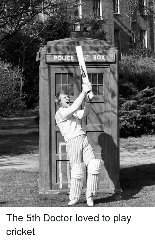 The 5th Doctor Loved to Play Cricket | Doctor Meme on ME ME