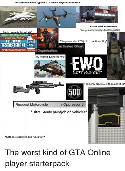 the absolute worst type of gta online playor starter pack passive mode pussy mode goes passive. Black Bedroom Furniture Sets. Home Design Ideas