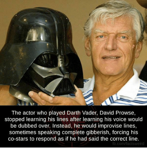 The Actor Who Played Darth Vader David Prowse Stopped Learning His
