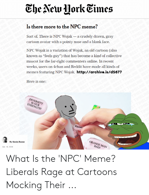 The Aew HorkTimes Is There More to the NPC Meme? Sort of There Is