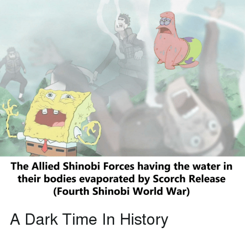 The Allied Shinobi Forces Having the Water Irn Their Bodies