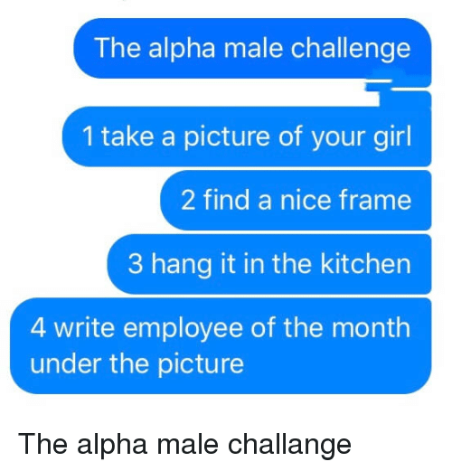 when you are dating an alpha male Do you think this sounds like your man do you want to date an alpha male or maybe you're an alpha female and a relationship with an alpha male would make for a tempestuous time.