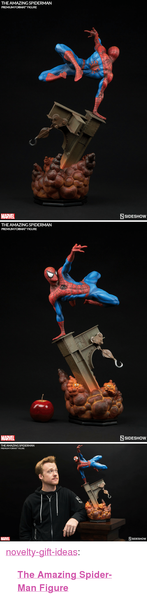 """Spider, SpiderMan, and Tumblr: THE AMAZING SPIDERMAN  PREMIUM FORMAT FIGURE  MARVEL  SSIDESHOw   THE AMAZING SPIDERMAN  PREMIUM FORMAT FIGURE  MARVEL  SSIDESHOw   THE AMAZING SPIDERMAN  PREMIUM FORMAT FIGURE  MARVEL  SIDESHOW <p><a href=""""https://novelty-gift-ideas.tumblr.com/post/163104754973/the-amazing-spider-man-figure"""" class=""""tumblr_blog"""">novelty-gift-ideas</a>:</p><blockquote><p><b><a href=""""https://novelty-gift-ideas.com/amazing-spider-man-figure/"""">  The Amazing Spider-Man Figure</a></b><br/></p></blockquote>"""
