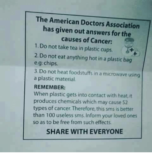 Memes Materialism And A Plastic Bag The American Doctors Ociation Has Given Out