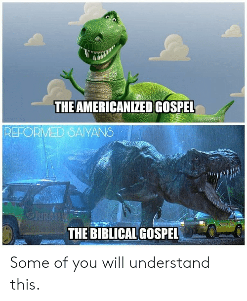 Will, You, and Gospel: THE AMERICANIZED GOSPEL  REFORMED SAYANS  THE BIBLICAL GOSPEL Some of you will understand this.