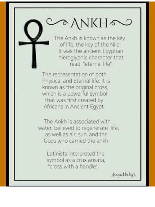 The Ankh Is Known As The Key Of Life The Key Of The Nile It Was The