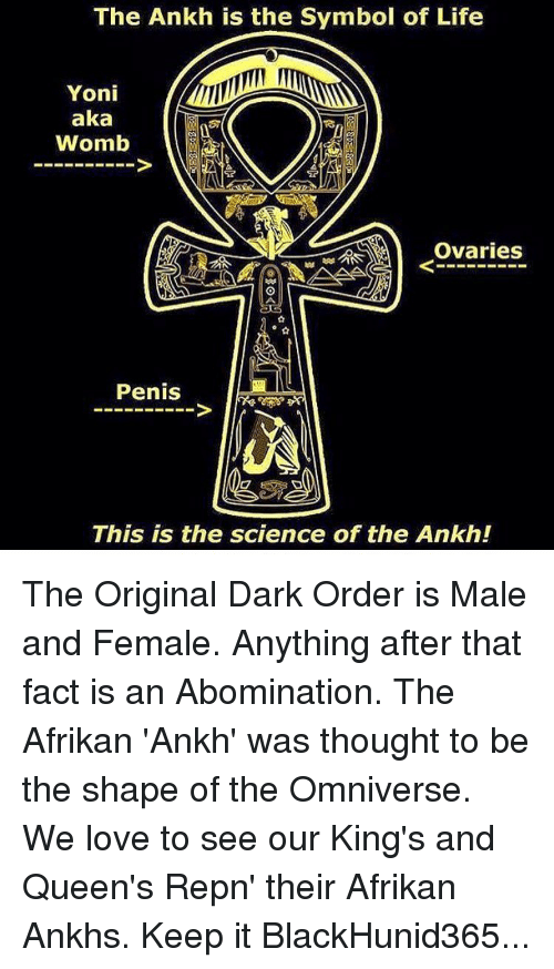 The Ankh Is The Symbol Of Life Yoni Aka Womb Ovaries Penis This Is