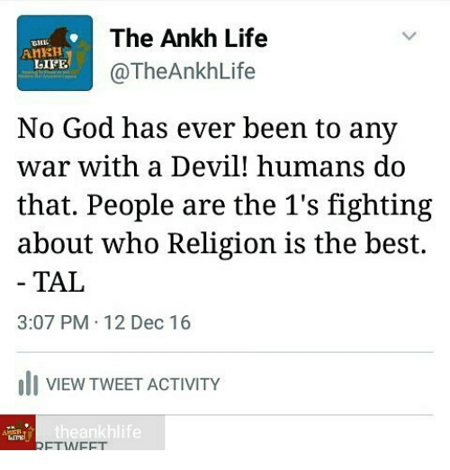 The Ankh Life AnRH LIFE Ankh Life No God Has Ever Been to