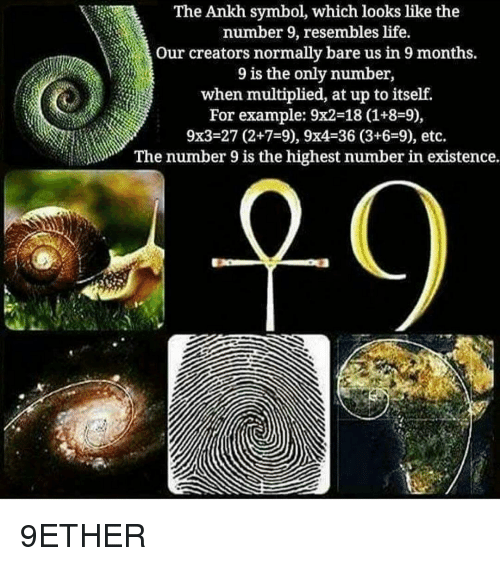 The Ankh Symbol Which Looks Like the Number 9 Resembles Life