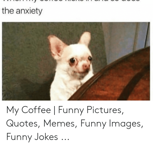 The Anxiety My Coffee Funny Pictures Quotes Memes Funny Images Funny Jokes Funny Meme On Me Me