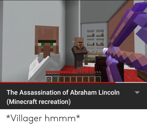 The Assassination of Abraham Lincoln Minecraft Recreation