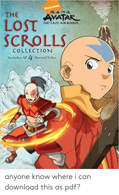 The AVATAR SCROLLS COLLECTION Inchades Al Socred Toles