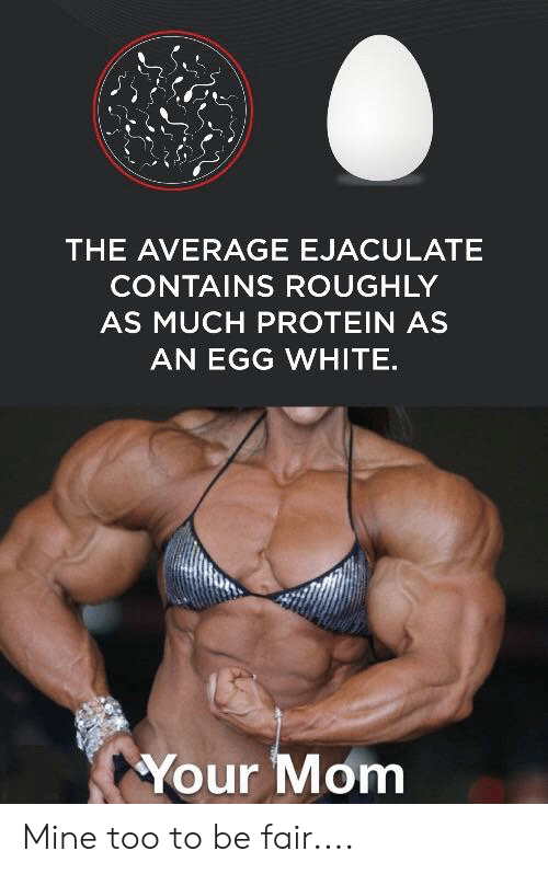 The AVERAGE EJACULATE CONTAINS ROUGHLY AS MUCH PROTEIN AS AN