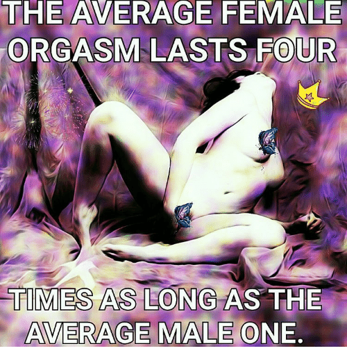 How long is a female orgasm