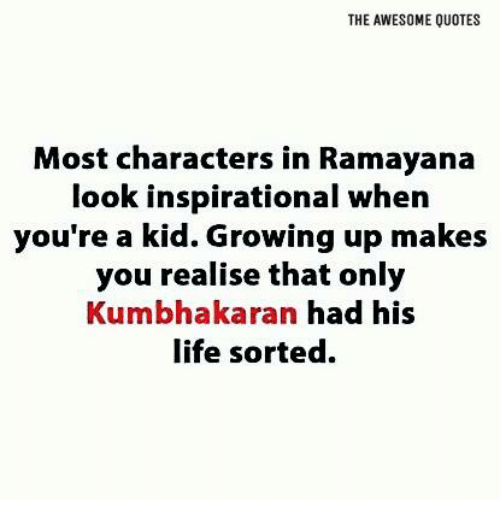 The Awesome Quotes Most Characters In Ramayana Look Inspirational