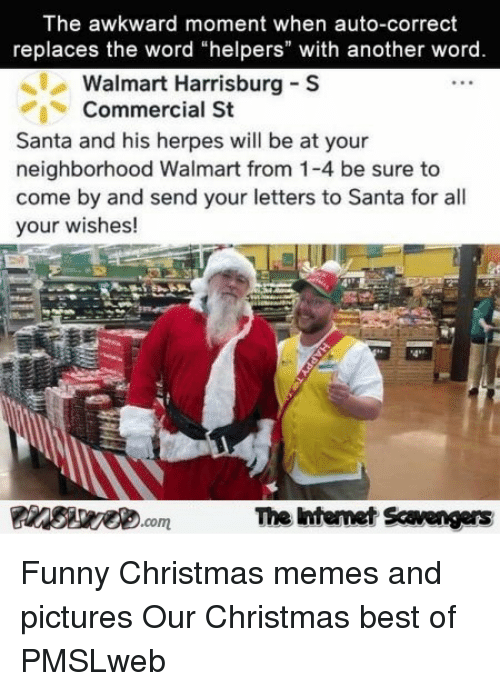 christmas funny and herpes the awkward moment when auto correct replaces the - Walmart Christmas Commercial