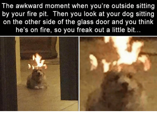 Fire, Memes, And Awkward: The Awkward Moment When Youu0027re Outside Sitting
