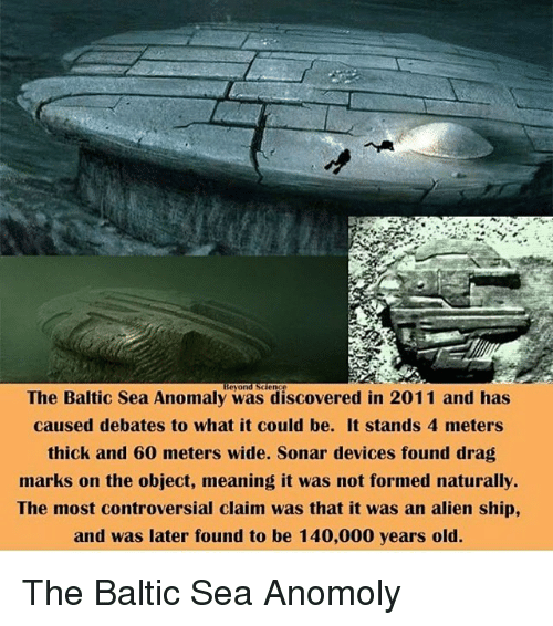The Baltic Sea Anomaly Was Diered in 2011 and Has Caused