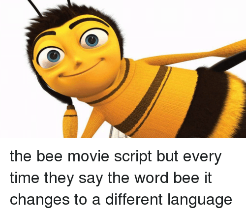 The Bee Movie Script