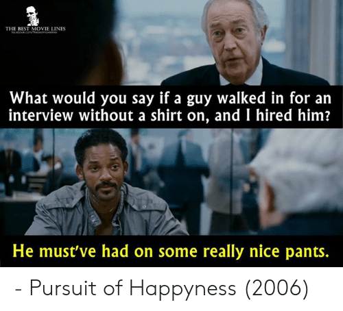 Image result for the pursuit of happiness pants meme