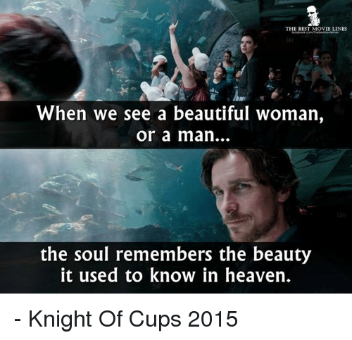 The BEST MOVIE LINES When We See a Beautiful Woman or a Man the Soul