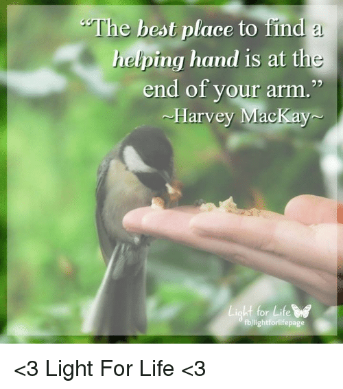 The Best Place to Find a Helping Hand Is at the End of ...