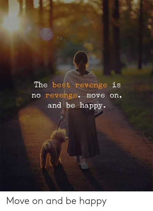 Memes, Revenge, and Best: The best revenge is  no revenge. move on,  and be happy. Move on and be happy