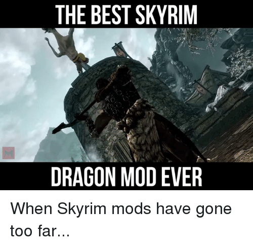 The BEST SKYRIM DRAGON MODEVER When Skyrim Mods Have Gone Too Far