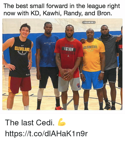 Best, Cleveland, and The League: The best small forward in the league right  now with KD, Kawhi, Randy, and Bror.  ONBAMEMES  CLEVELAND  IS AN  GOLOEN STATE  TO  CEIS The last Cedi. 💪 https://t.co/dlAHaK1n9r