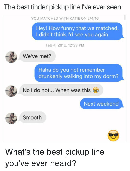 Best ever tinder pick up lines