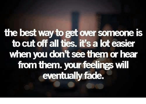 Best way of getting over someone