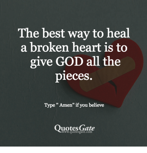 How to heal a broken heart quotes