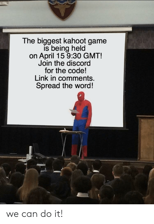 The Biggest Kahoot Game Is Being Held on April 15 930 GMT! Join the