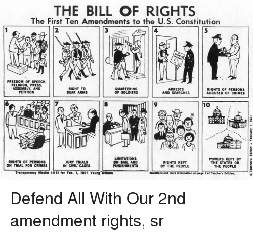 Crime Memes And Sol Rs The Bill Of Rights The First Ten Amendments To
