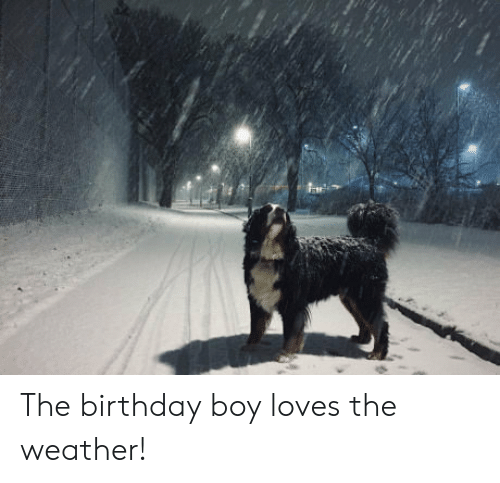 Birthday, The Weather, and Weather: The birthday boy loves the weather!