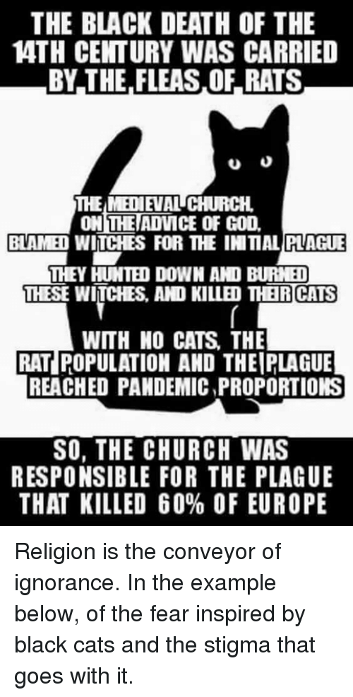 The BLACK DEATH OF THE 4TH CENTURY WAS CARRIED BY THE FLEASOF RATS